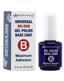 Americanails No-Run Gel Polish Top/ Base Coat .5oz