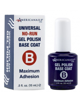 Americanails No-Run Gel Polish Top/ Base Coat .5oz