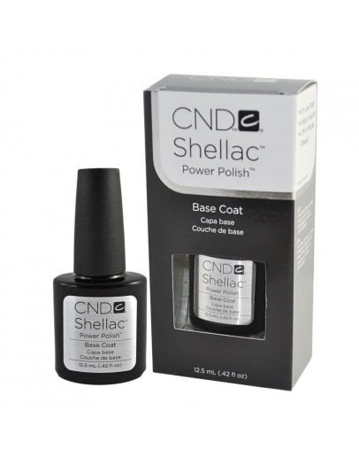 Cnd Shellac Topcoat Gel 0.5 oz/ Basecoat Gel 0.42 oz