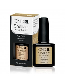 Cnd Shellac Topcoat Gel 0.5 oz/ Basecoat Gel 0.42 oz