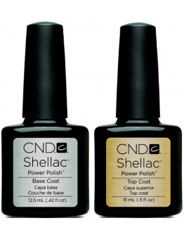 Cnd Shellac Basecoat & Topcoat Gel DUO 0.5 oz