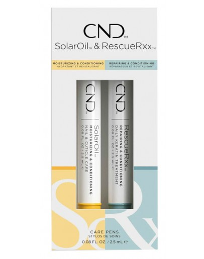 CND Essential Care Pens Duo Pack (SolarOil and RescueRXX)