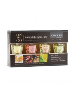 Cuccio Mini Revitalizing Cuticle Oil, 4 Piece Box (Assorted)