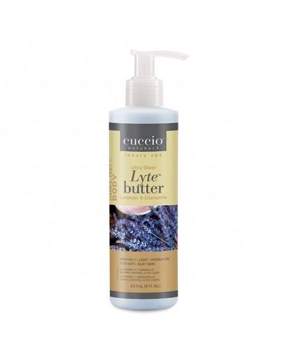 Cuccio Lytes Ultra Sheer Body Butter, 8 oz Lavender & Chamomile