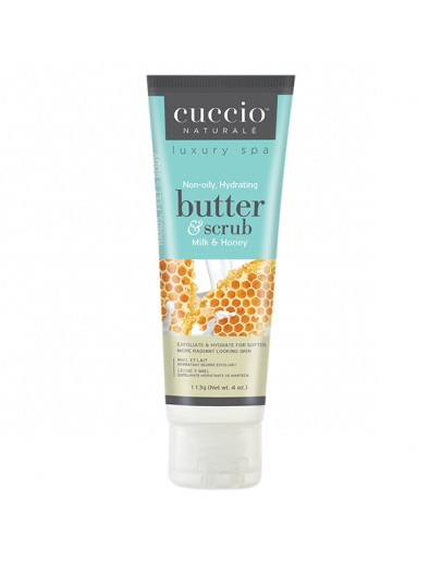 Cuccio Naturale Butter & Scrub, 4 oz, Milk & Honey
