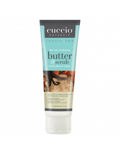 Cuccio Naturale Butter & Scrub, 4 oz, Vanilla Bean & Sugar