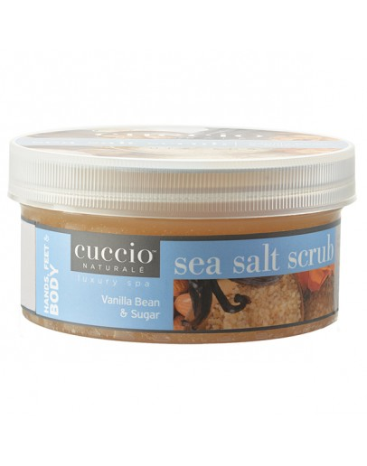 Cuccio Naturale Sea Salt Scrub, 19.5 oz Vanilla Bean & Sugar (Medium Crystals & Fine Sugarcane)