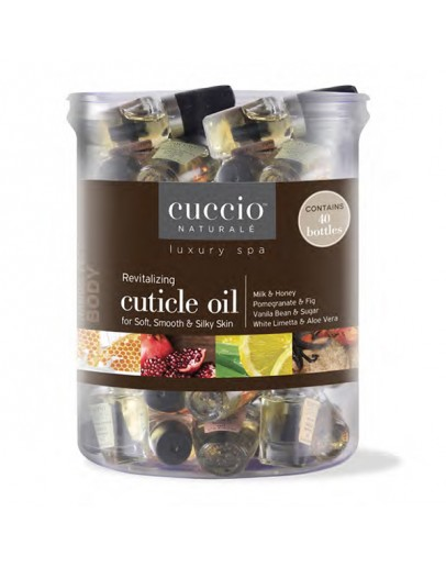 Cuccio Naturale Revitalizing Cuticle Oil .125 oz, 40 Piece Tub