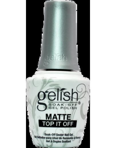 Gelish Soak Matte Top It Off Sealer Gel Nail Polish - 0.5 Oz