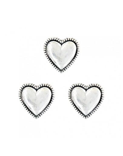 Heart Antique Silver