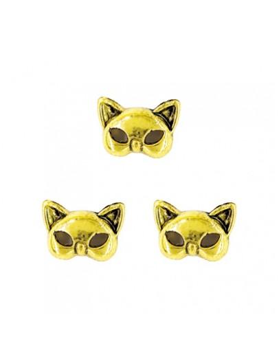 Kitten Mask Antique Gold