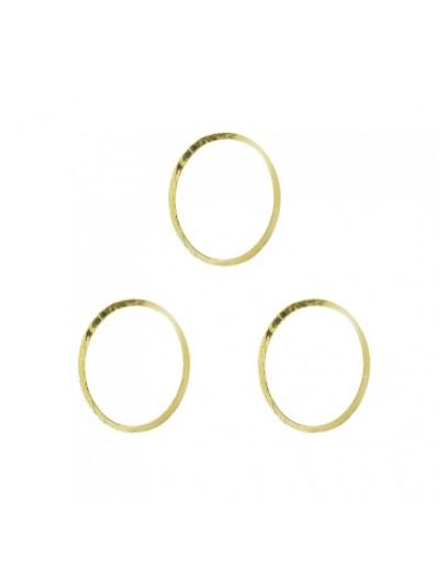 Oval frame L Gold 8x9mm