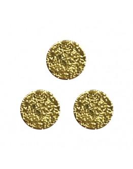 Matte round plate 3mm Gold