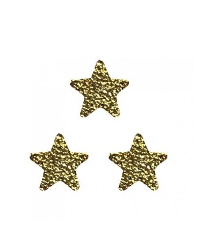 Matt flat star Gold 4mm