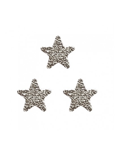 Matt flat star Sliver 5mm