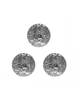 Round Matte 2.5mm Silver