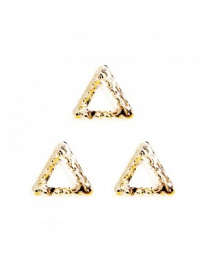 Hollow Rough Triangle S  Pink Gold