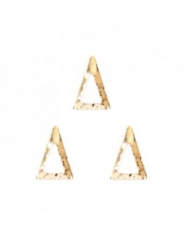 Hollow Long Triangle Pink Gold