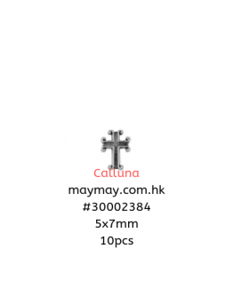 Roman Number Cross Antique Silver