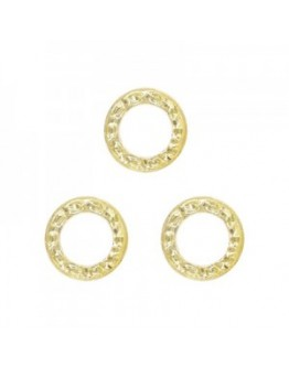 Rough Circle 3mm gold