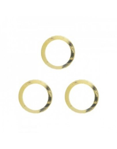 Hollow Circle M Gold
