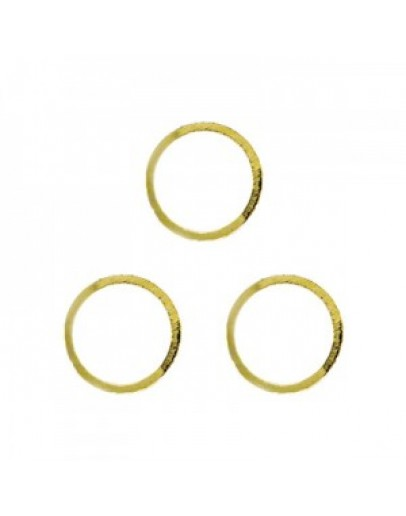 Hollow Circle L Gold