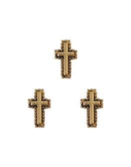 Circulate with Dot Cross Antique Gold