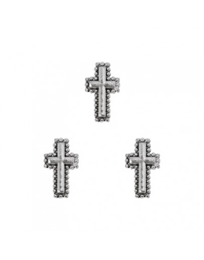 Circulate with Dot Cross Antique Silver
