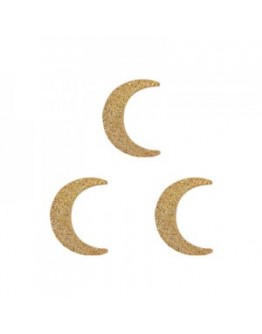 Crescent Moon Flat Gold