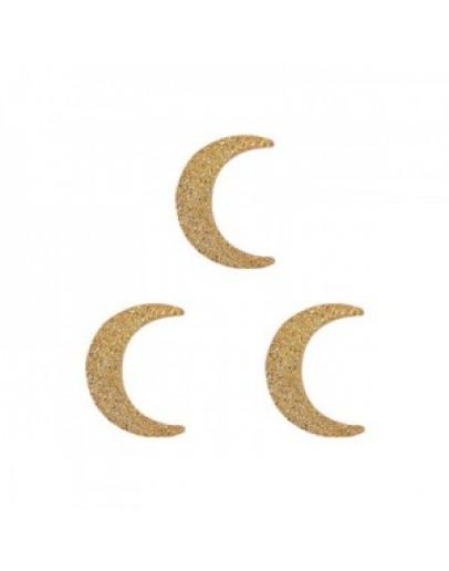 Crescent Moon Flat Gold