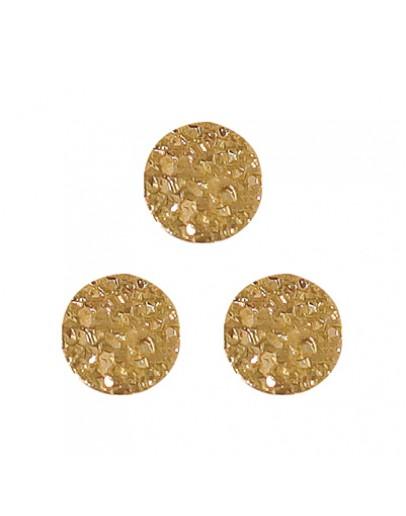 Matte Round Gold 2mm