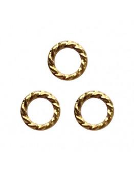 Twist ring 4mm Gold
