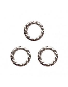 Twist ring 4mm Silver