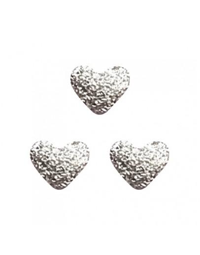 Matte Heart 4mm Silver