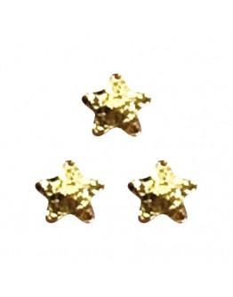 Matte Star 2mm Gold