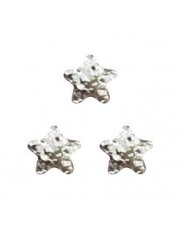 Matte Star 2mm Silver