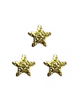 Matte Star 2.5mm Gold