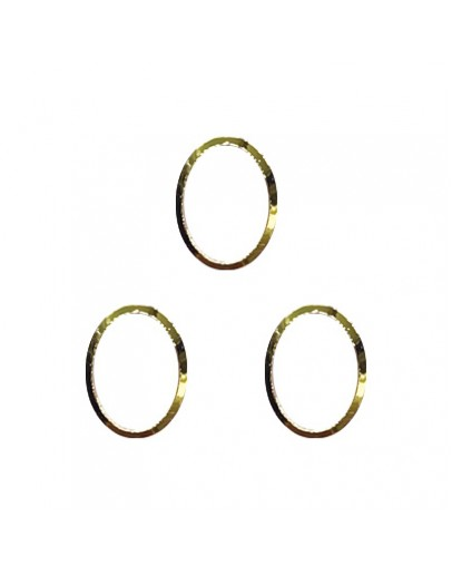 Oval frame Gold 3x6mm