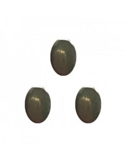 Oval Medal Black