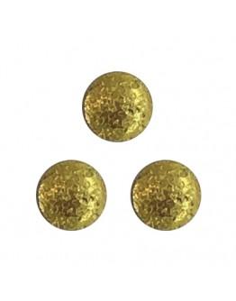 Round Matte 2.5mm Gold